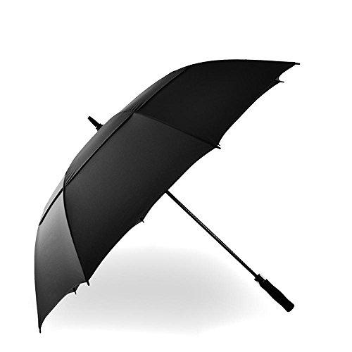 BBSLT Maschio lungo manico bar business ombrello doppio strato golf ombrello, ombrello resistente al vento forte super automatica, robusta e portatile , black