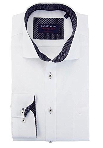 CASAMODA Herren Freizeithemd Weiß (Weiß 001)