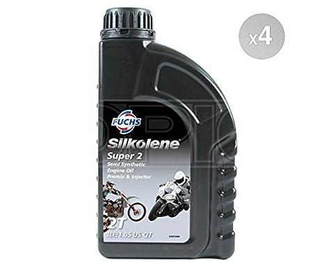 Silkolene SUPER 2 Semi-Synthetic 2-Stroke Engine Oil - Premix & Injector - 600757328#4 - 4 x 1