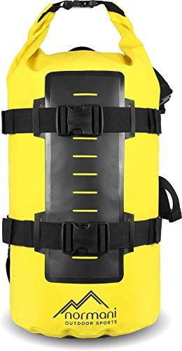 normani Rucksack Wasserdichter Trekking-Rucksack aus LKW-Plane, 40 Liter Farbe Gelb