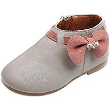 Zapatos de bebé Zapatillas de deporte para niñas Botas de zapatilla Bowknot para niñas Zapatos ocasionales