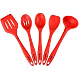 Homdox Premium Silicone Kitchen Utensils Tools Set for Cooking and Baking,Heat Resistant,Set of 5