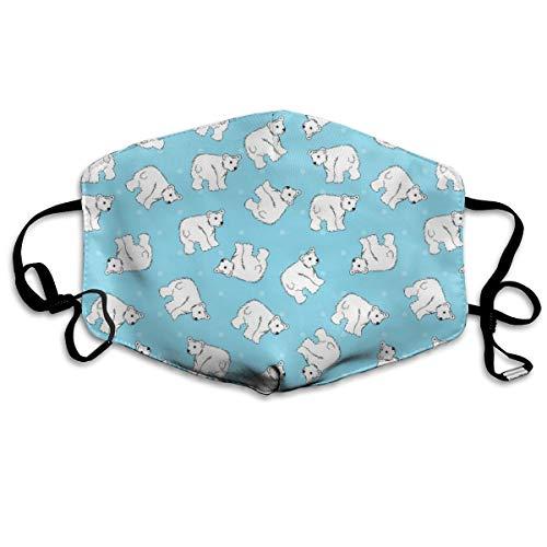 (vintage cap Polar Bears On Blue Anti Dust Mask Anti Pollution Washable Reusable Mouth Masks)