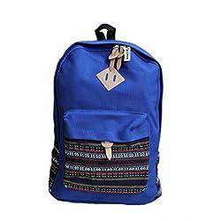 Aeoss Backpack Girls Women Bohemian Aztec Tribal Print Bag (Blue, Large ( 18.6' x 12.7' x 5.3' inches))