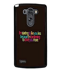 Printvisa 2D Printed Quotes Designer back case cover for LG G3, - D4529