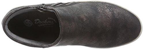 Dockers - 36ai208-680155, Scarpe chiuse Donna Nero (Schwarz (schwarz/silber 155))