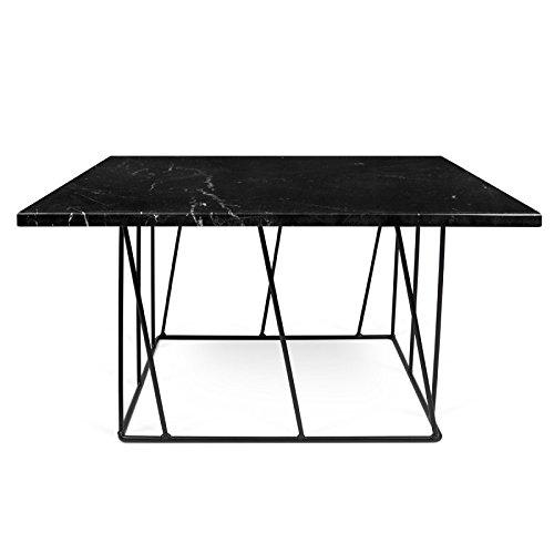 Paris Prix - Temahome - Table Basse Helix 75cm Marbre Noir & Métal Noir