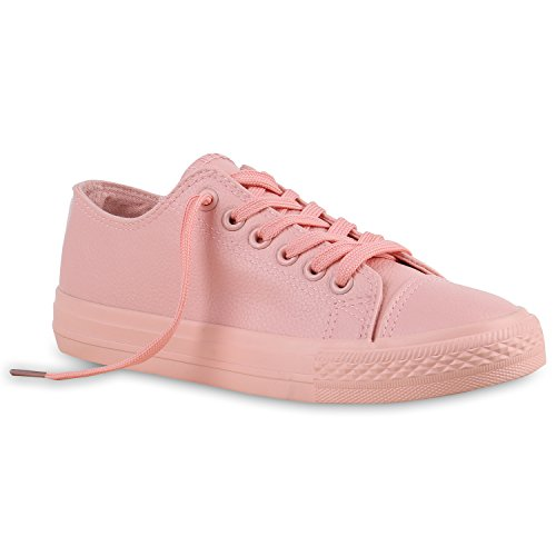 Damen Sneakers Sportschuhe | Sneaker Low Denim | Stoffschuhe Blumen Camouflage Rosa Glatt