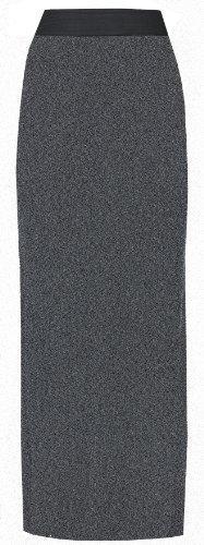Neu Damen Übergröße Stretch Jersey Gypsy Boho Langes Maxi Kleid Rock Übergröße UK 8-26 - Dunkelgrau, Damen, 50