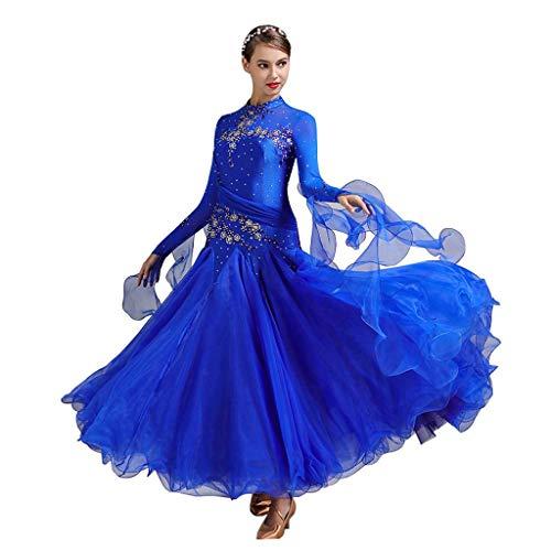 YTS Ballroom Dance Kleid Kleid Kostüm, Erwachsene Damen Modern Dance Rock (Farbe : Royal Blue, größe : XL)