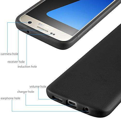 Cadorabo - TPU Silikon Schutz-Hülle (Full Body Rund-um-Schutz auch für das Display) für >               Samsung Galaxy S7               < in FLIEDER-VIOLETT OXID-SCHWARZ