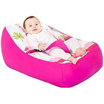 Ready Steady Bed Paris Design Baby Bean Bag Pre Filled With Adjustable Safety Harness