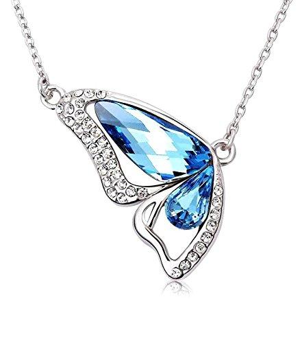 Crunchy Fashion Blue crystal Pendant For Women