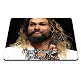 Jason Momoa - Game of Thrones 1 Personalised Gift Print Mouse Mat Autograph Computer Rest Mouse Mat Compatible with Laser and Optical Mice (with Personalised Message)