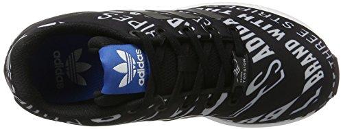 adidas Zx Flux, Scarpe da Ginnastica Basse Unisex – Bambini Nero (Core Black/core Black/ftwr White)