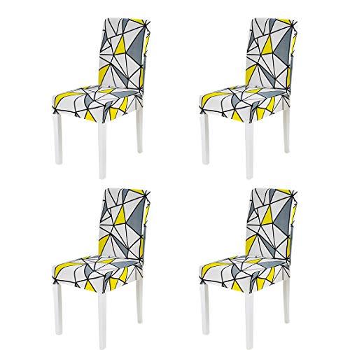 Forcheer maxdecro copertura della sedia fodere elasticizzato copertura della sedia coprisedie sala da pranzo,universale coprisedie con rimovibile lavabile(4pezzi)