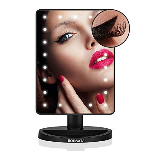 Bornku Espejo (Iluminado, 10Posiciones B91maquillarse con iluminación Mediante Touch de Interruptor, 21ledes, de Ultra Alta definición Falter Bar LED Espejo