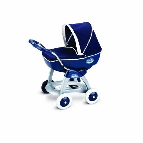 Smoby pico 7600023181 - carrozzina per bambole, stile inglesina, colore: blu