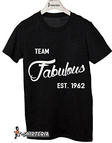 Tshirt Team Fabulous Est. 1962 - idea regalo per compleanno - Tutte le taglie by tshirteria Nero