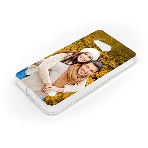 Premium Foto-Handyhülle für Microsoft / Nokia-Lumia mit eigenem Foto gestalten, Hülle:Slim-Silikon / Transparent, Handymodell:Microsoft Lumia 540