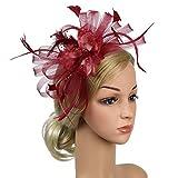 Yazidan Kopfschmuck Flapper Stirnband Kopfschmuck Floral Blumengirlande Mädchen Stirnband Retro Party Kleiner Zylinder Hanfgarn Stirnband Haarspange Kopfbedeckung