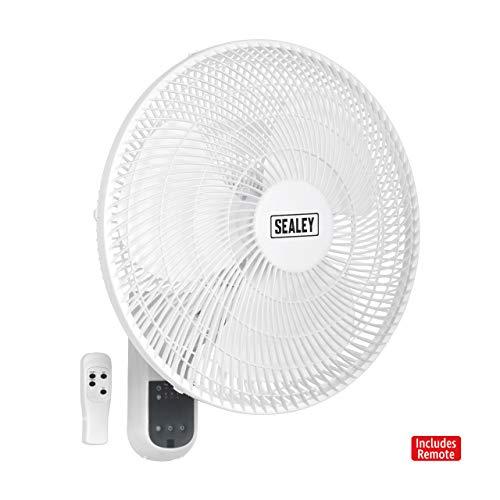 Sealey Wand-Ventilator mit 3 einstellbaren Geschwindigkeiten und inklusive Fernbedienung, 230 V, SWF16WR 230W, 240V -