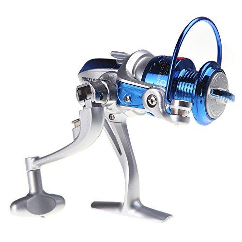 ryask (TM) UK Nuovo 8BB Cuscinetti a sfera ST2000sinistra/destra intercambiabile manico pieghevole pesca Spinning Reel 5.1: 1, colore: blu