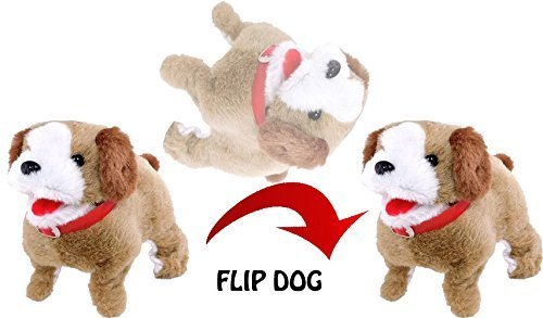 Jiada Fantastic Puppy Jumping Soft Toy | Walking Barking Somersault Action