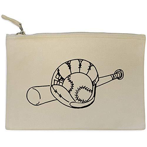 Azeeda 'Baseballschläger und Handschuh' Clutch / Makeup-Fall (CL00009221)