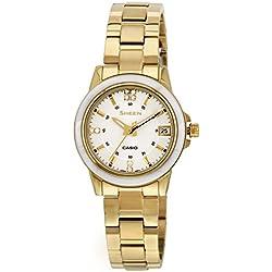 Casio Damen-Armbanduhr XS Analog Quarz Edelstahl SHE-4512G-7AUER