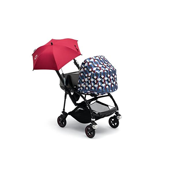 Bugaboo Parasol+, Ruby Red Bugaboo Attaches to all bugaboo pushchairs Keeps your child UV-protected and comfortable on sunny days Provides sun protection of UPF 50+ 2
