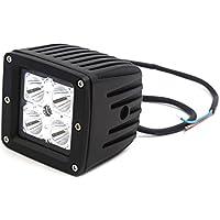 sourcingmap® DC 12V 16W Blanc 4 LED phare travail Hors route Conduite pour voiture Lampe projecteur