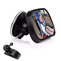 Baby Car Mirror for Back Seat,ShowTop Rear View Facing Back Seat Mirror Child Safety Rearview 360 Degree Adjustable Forward Baby Mirror for Infant