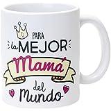 Mopec Taza Cerámica para la Mejor Mamá en Caja Regalo, Porcelana, Blanco, 8.1x8.1x9.5 cm