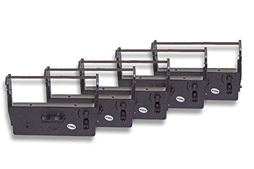vhbw 5x Farbband Nylonband Tintenband für Nadeldrucker ADS Anker Data System Cash-Register-Printer ADS 14.5008 wie ERC-23, C43S015360, ERC-23B -