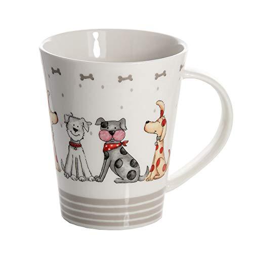 SPOTTED DOG GIFT COMPANY Taza mug de cerámica Porcelana para café té, Tazas Desayuno Originales Grandes Decorativas diseño de Perro Regalo para Perros y Amante de los Animales