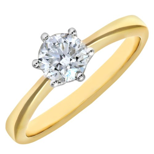 Naava GIA Certified Diamond Gold Solitaire Engagement Ring