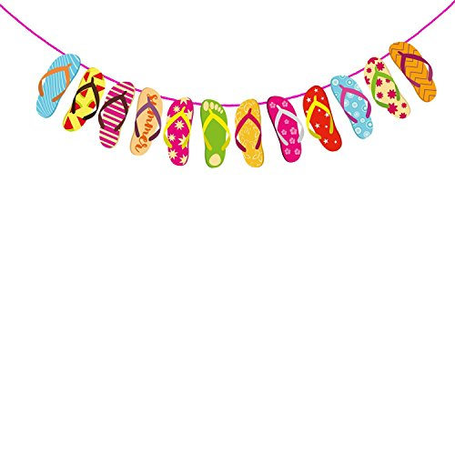 Party PropzTM Pool/Hawaiian Sandal Banner / Hawaiian,Pool Party,Summer Aloha Banner / Hawaiian Party Decorations / Adult Party Supplies