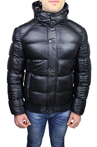Giubbotto piumino uomo nero sartoriale casual invernale