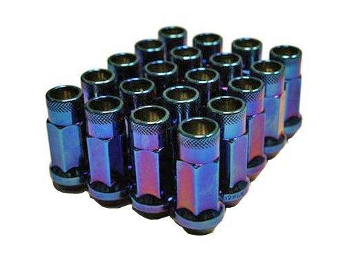 For Honda Acura M12 X 1.5 mm Blue Burn Open End Acorn Lug Nuts Set Of 20