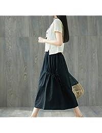 Amazon.it  Pantaloni lino cotone - Gonne   Donna  Abbigliamento e9d08d45bfb