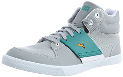 Puma Men's El Ace 2 Mid Pn Lime Stone and Blue Grass Sneakers - 8 UK/India (42 EU)