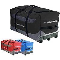 Sherwood Eishockeytasche SL 800 Goalie Wheel Bag Bolsa de Hockey sobre Hielo, Unisex Adulto, Azul/Gris, 111 x 56 x 55 cm, 92 Liter