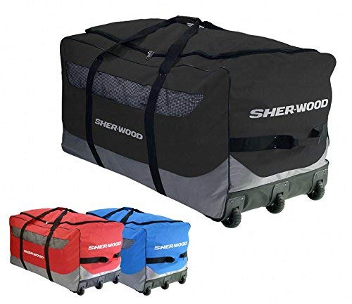 Sherwood Eishockeytasche SL 800 Goalie Wheel Bag Schwarz, 111 x 56 x 55 cm, 92 Liter