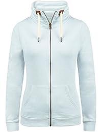 DESIRES Vicky Zipper Damen Sweatjacke Jacke Sweatshirtjacke Mit Stehkragen
