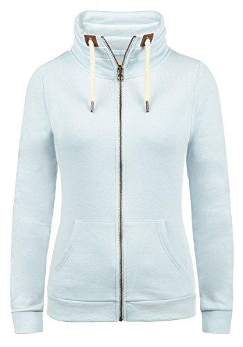 DESIRES Vicky Zipper Damen Sweatjacke Jacke Sweatshirtjacke Mit Stehkragen, Größe:M, Farbe:Baby B. M (1007M)