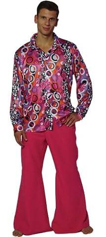 Maylynn 13156-L - Hippie Kostüm Candyman, 60-/70-er Jahre Herren Hemd