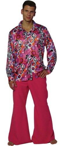MAYLYNN 13156-L - Hippie Kostüm Candyman, 60-/70-er Jahre Herren Hemd und Schlaghose, Größe L (70er Jahre Herren Kostüm)