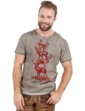 Michaelax-Fashion-Trade Krüger - Herren T-Shirt in Olive, Krüger Gaudi (95207-57)