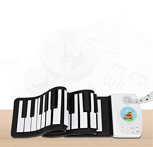 AETOPP Teclado Piano Plegable 49 Teclas, Teclado Piano Niños Aprendizaje 49 Teclas Flexible Soft Digital Midi Roll Up Keyboard Piano (49 Teclas)